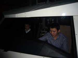 Mr. Thu in Flight Simulator