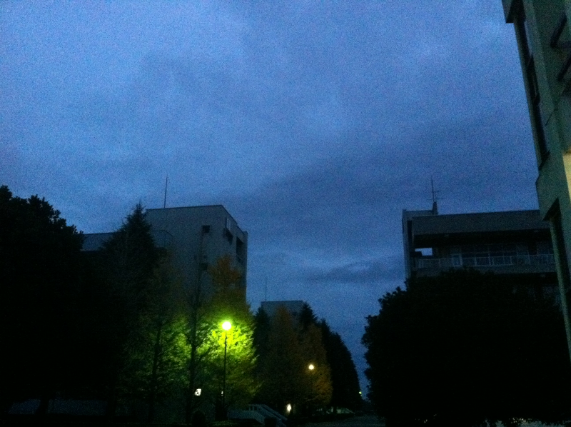 Earlky morning on Dec. 6 at Nihon Univ.