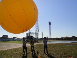 Balloon with stiff wind